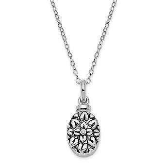 925 Sterling Silver Gift zakje Spring Ring Gepolijst terug Rhodium vergulde afwerking CZ Kubieke Zirconia Gesimuleerde Diamond Flowe