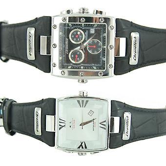 Unisex reloj cronógrafo doble cara Chronotech mujer CT7686L01