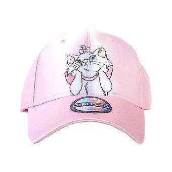 Aristocats Baseball Cap Marie Satin Nylon new Official Disney Pink Curved Bill
