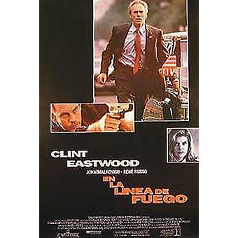 In The Line Of Fire (Single Sided International Spanish) Original Cinema Poster