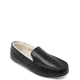 Pegasus Leather Slipper With Sherpa Fleece Lining