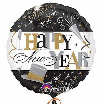 Anagram 18in Elegant Celebration New Year Circle Foil Balloon
