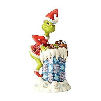 Dr. Seuss The Grinch Climbing in Chimney Figurine