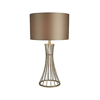 Searchlight Wheatsheaf 1 Light Table Lamp Champagne 2022CP