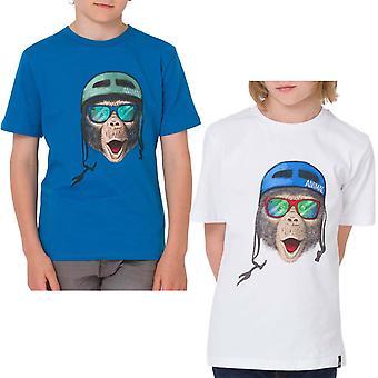 Animal Boys Chimp Graphic Chest Print Short Sleeve Crew Neck Tee Top T-shirt