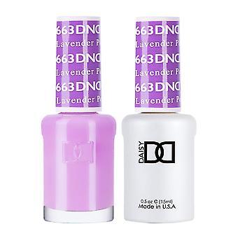 DND Duo Gel & Nail Polish Set - Lavender Pop 663 - 2x15ml