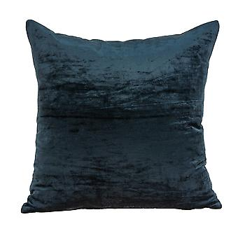 """18"""" x 7"""" x 18"""" Transitional Dark Blue Solid Pillow Cover With Poly Insert"""