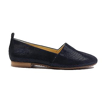Paul Green 4243-20 Blue Nubuck Leather Womens Slip On Shoes