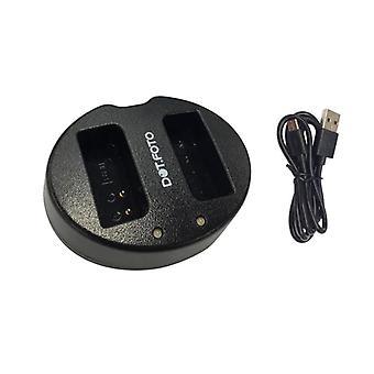 Dot.Foto BLN-1 Szybka podwójna ładowarka USB do olympus [Patrz opis zgodności]