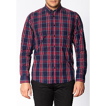 Merc HARCOURT, Men's Long Sleeve Cotton Shirt with Large Check Pattern