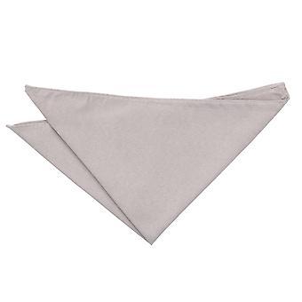Dove Grey Suede Pocket Square