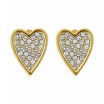 Adore By Swarovski 5303089 Gold Tone Pointed Heart Stud Earrings