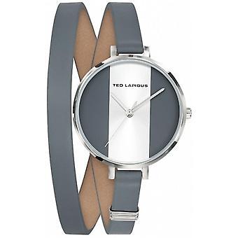 Ted Lapidus A0740APMB Watch - Double Leather Bracelet Grey Box Steel Women