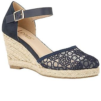 Lotus Eartha Womens Wedge Heel Espadrilles