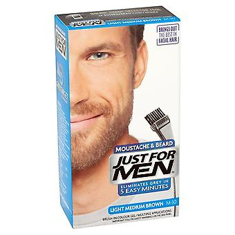 Just For Men 3 X Just For Men Brush In Facial Hair Colour - M30 Light Med Brown