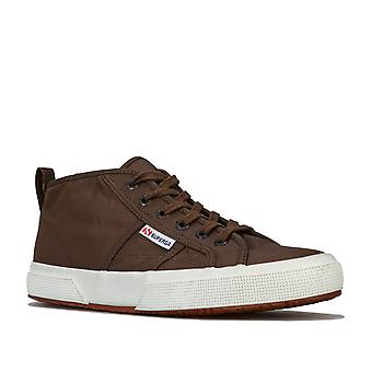 Womens Superga 2754 Nylon New Classic Pumps In Military Green- Lace Fastening-