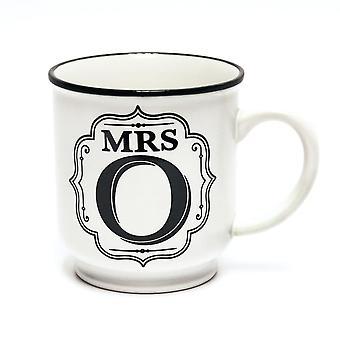 Historia & Heraldry aakkoset muki-Mrs O