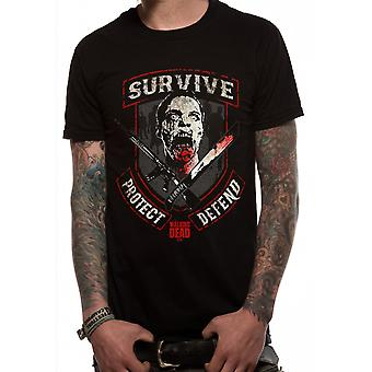 Den Walking Dead overleve vandrere zombier officielle T-shirt