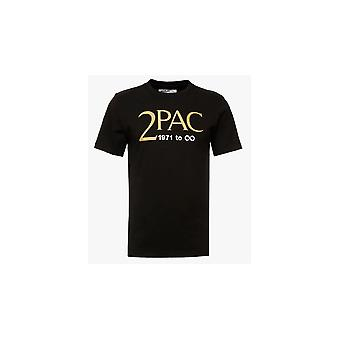 Replay M3946 2Pac Tribute logo zwart T-shirt