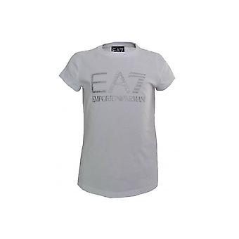 EA7 Girls White T-Shirt