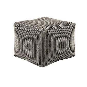 Grey Jumbo Cord Square Bean Bag Footstool Foot Rest Stool Pouffe Ottoman Beanbag