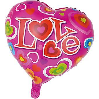 Folio pallo, sydämenmuotoinen | Rakkaus | -46 cm