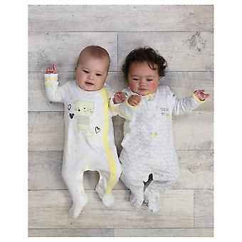 The Essential One Baby Girls Heart Sleepsuits - 2 Pack