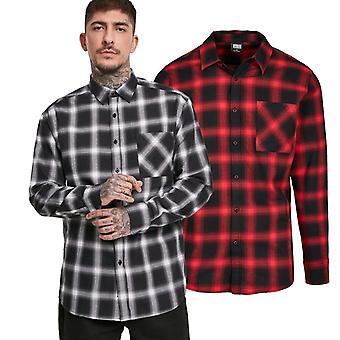 Urban Classics - Ponadgabarytowa koszula flanell lumberjack