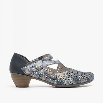 ريكر 41746-90 السيدات اللمس لمس ماري جين أحذية الأزرق الأزهار
