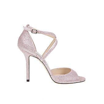 Jimmy Choo Emsy100gib Women's Pink Fabric Sandalen