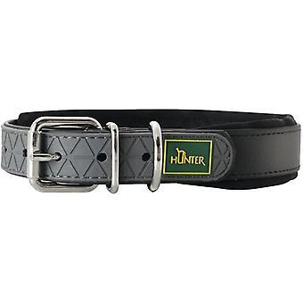Hunter Kragen Komfort Komfort Schwarz (Hunde , Für den Spaziergang , Halsbänder)