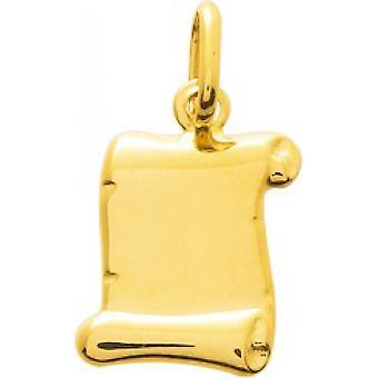 Geel gouden perkament hanger 18 karaat