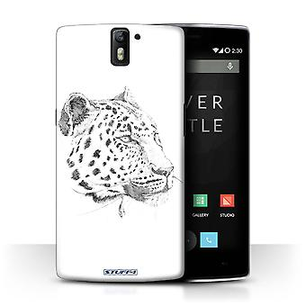 STUFF4 Case/Cover for OnePlus One/Leopard/Sketch Drawing