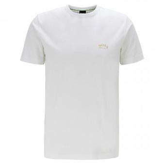 Boss Green Hugo Boss Tee Curved Chest Logo T-Shirt White 112 50412363