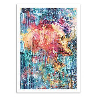 Art-Poster - Splatter Skull - Barrett Biggers