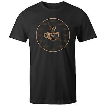 Boys Crew Neck Tee Lyhythihainen Miesten & T-paita- Hot Coffee