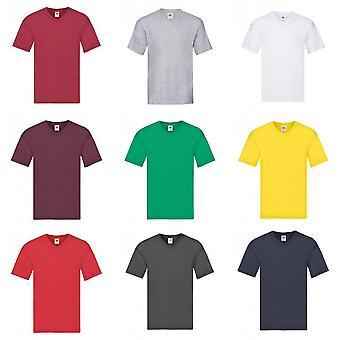 Vrucht van de Loom Mens origineel V-hals T-Shirt