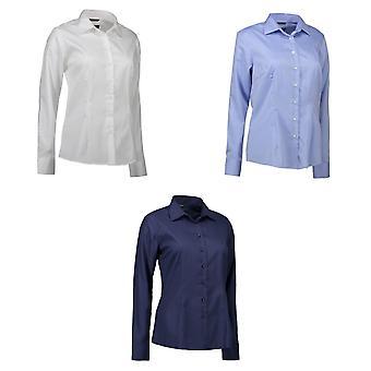 معرف المرأة/السيدات الحديد سهل زر تناسب الحديثة أسفل القميص
