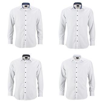 James y Nicholson para hombre clásico ajuste llano camisa