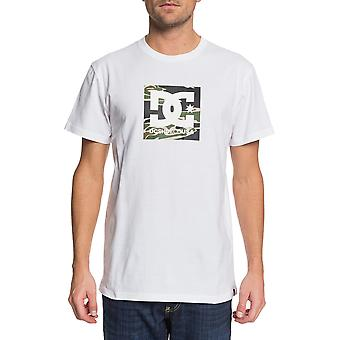 DC Square Star 2 Short Sleeve T-Shirt in Snow White/Camo