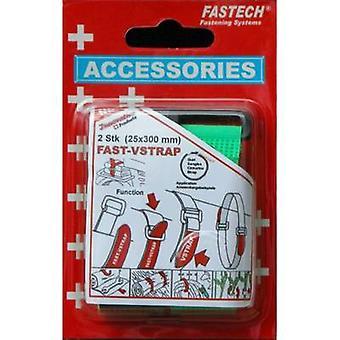FASTECH® 688-656 Krok-och-slinga tejp med rem Krok och slinga pad (L x W) 300 mm x 25 mm Grön 2 st( er)