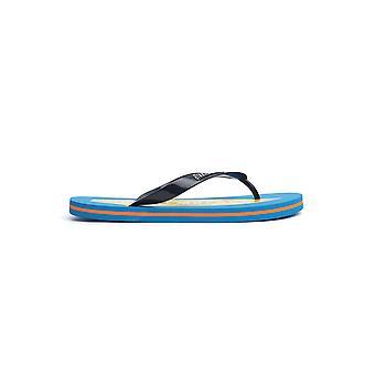 Bikkembergs B6a80432050 Men's Light Blue Polyester Flip Flops
