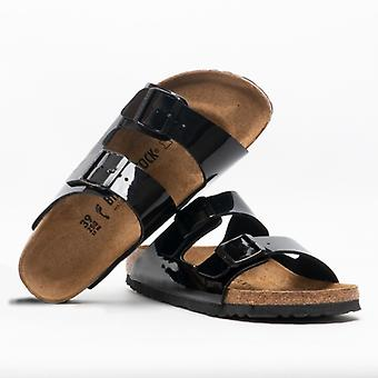 Birkenstock Arizona 1005292 (nar) dámy BIRKO-Flor dva popruh sandále patent čierna