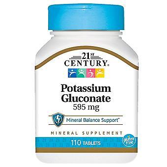 21st century potassium gluconate, 595 mg, tablets, 110 ea