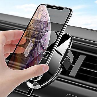 Usams blocco automatico automatico 10w qi wireless supporto ad aria d'aria di montaggio dell'auto per il telefono cellulare