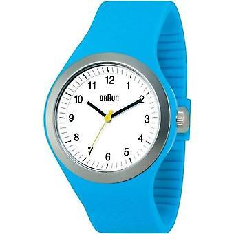 Braun BN0111WHBLG 66537-unisex wristwatch, blue rubber strap
