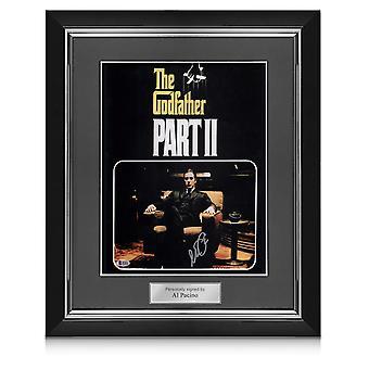 Al Pacino ondertekend Godfather 2 film poster in Deluxe frame