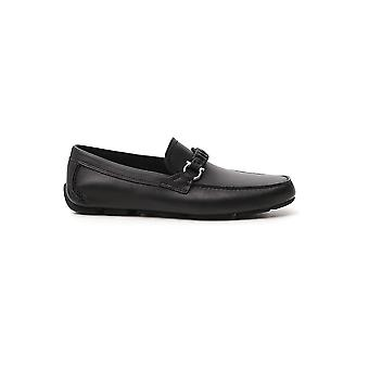 Salvatore Ferragamo 02c216724923 Men's Black Leather Loafers