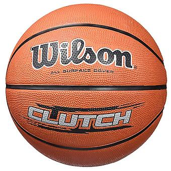 Wilson Clutch All Surface Cover Rubber Basketball Ball Brown