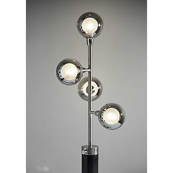 "9.5"" X 11.5"" X 28"" Brushed steel Metal LED Table Lamp"